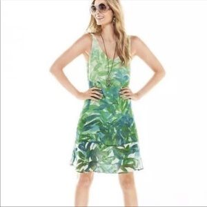 CAbi Castaway Green Tropical Dress 5235 Medium